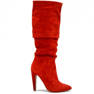 Steve Madden Carrie Red Suede